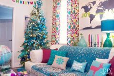 colorful+Christmas+decor