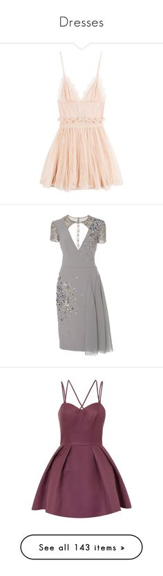 """Dresses"" by lopem ❤ liked on Polyvore featuring dresses, vestidos, short dress, beige, pale pink cocktail dress, lace mini dress, v neck cocktail dress, lace cocktail dress, mini dress and light grey"