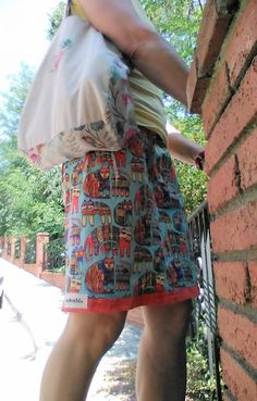 #skirts #cats #summer2016 #fashion skirt and bag by #ateliernobochi
