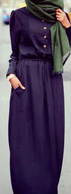 Abaya ❤ Hijab Style www. Hijab Fashion 2016, Abaya Fashion, Modest Fashion, Hijab Chic, Stylish Hijab, Islamic Fashion, Muslim Fashion, Modest Wear, Modest Outfits