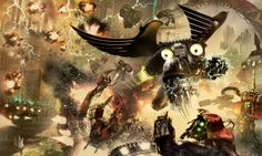 Primarch Corax leads his Raven Guard against a Dark Mechanicus-held Forge World