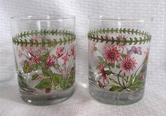 2 Vintage Portmeirion Botanic Garden 12 oz Double Old Fashioned Glasses | eBay