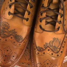 Sweeney Tattoo on brogue boots