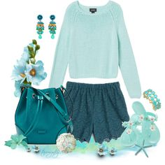 """""""Colors of the Ocean"""" by tammynky on Polyvore"""