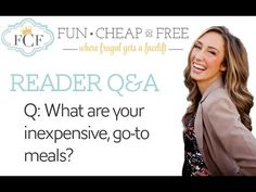 Q&A: What are your inexpensive, go-to meals?