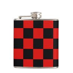 Black and red - Italian football club - Milan Hip Flask