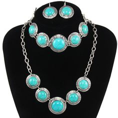 US $7.70 [US $8.99 http://www.aliexpress.com/store/product/Vintage-Dress-Jewelry-Set-Tibet-Antique-Silver-Plated-Blue-Natural-Turquoise-Stone-Necklaces-Bracelets-Earrings-Set/903947_2032418705.html]