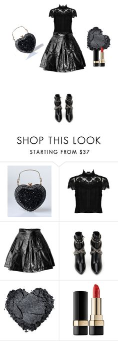 """Black and red"" by ester77zoe ❤ liked on Polyvore featuring Alice + Olivia, Kenzo, Yves Saint Laurent and Dolce&Gabbana"