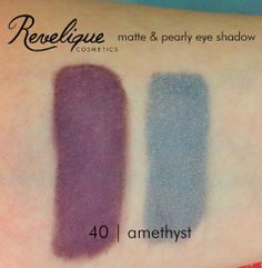 Revelique matte & pearly eye shadow 40 amethyst #eyeshadow #matte #pearly #revelique #amethyst