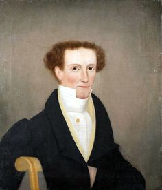 Colonial portrait - Finch Man ca:1830 (American Folk Art Portrait)