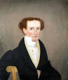 Colonial portrait - Finch Man ca:1830 (American Folk Art Portrait)