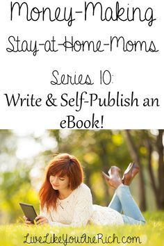 How to Write and Self-Publish an eBook. Great tips from a self-published author!