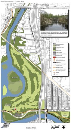 Milwaukee River Greenway Map.  There are so many great park areas located in the area.