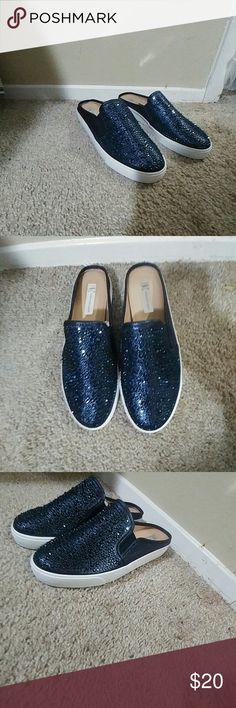 814a94f4ec2 INC 8.5 M Women s Sesilia Backless Slip-on Sneaker A versatile backless  profile and shimmering