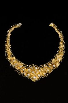 "Bill Reid (Haida) ""The Milky Way"" Necklace, intricately-constructed of gold and diamonds"