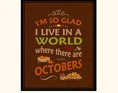 Fall Subway Art Printable - October Instant Download - Anne of Green Gables Quote