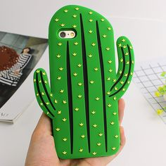 For Iphone 6s Case Funny 3D Cactus Phone Case Soft Silicone Rubber Capa Back Cover for Iphone 6s 6 Plus 5 5s SE Cartoon Fandas