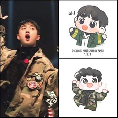 Exo Cartoon, Cartoon Art, Kyungsoo, Kaisoo, Exo Ot12, Exo Anime, Exo Fan Art, Exo Lockscreen, Kpop Fanart
