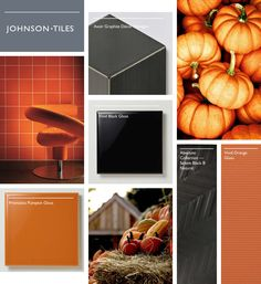 Happy Halloween! Our spooktacular moodboard is inspired by autumnal colours of orange and black, featuring products from our Selene, Vivid and Prismatics ranges