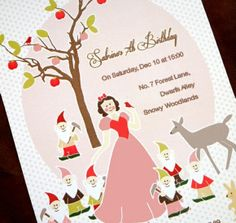 Snow white graphic party printables