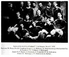 Equipos de fútbol: SELECCIÓN DE ESCOCIA contra Inglaterra 02/03/1878