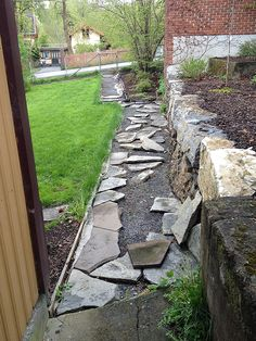 Legging av hellegang Stepping Stones, Sidewalk, Outdoor Decor, Walkway, Walkways
