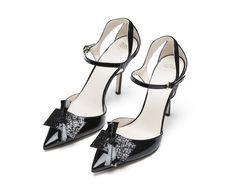 Julia Patent Leather Heels, $495