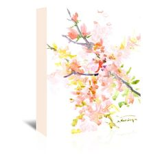 Found it at Wayfair - Cherry Blossom Sakura Original Painting on Wrapped Canvas