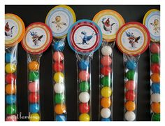 RIO Gumballs or Skittles Party Favors - set of 12. $22.00, via Etsy.