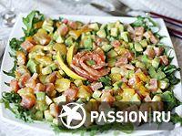 Салат из авокадо и семги   passion.ru