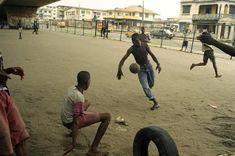 Young men having fun in a not so fun placeLagos, Nigéria.