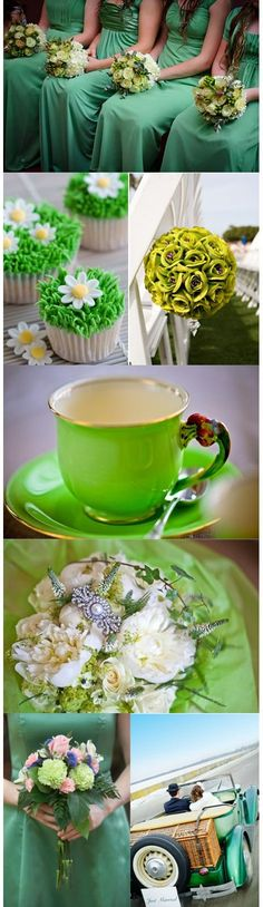 Celebrate St Patrick's with a green themed wedding with dreamy green dresses, cupcakes & flowers! Tipi Wedding, Wedding Themes, Wedding Colors, Wedding Day, Wedding Shit, Themed Weddings, Wedding Dreams, Wedding Bells, Wedding Stuff