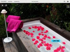 """Garden, Body and Soul In this """"Outdoor Room"""" makeover, award-winning landscape designer Jamie Durie installed an outdoor spa tub with a custom-built wood surround."""