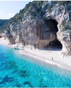Praia de Cala Luna, Sardenha, Itália
