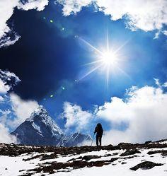 Climb a mountain. Literally or figuratively.