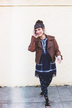 see more on my blog: http://jjhoneylavender.tumblr.com/ http://lookbook.nu/look/5035238-Thrifted-Vintage-Leather-Jacket-Tribal-Tunic