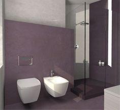 Il bagno, su richiesta della proprietaria, è totalmente realizzato in resina ed ospita una grande doccia #casa #home #cosedicasa #arredamento #arredamentocasa #design #living #house #office #bathroom #bagno