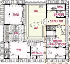 한옥 평면도 드라마 개인의 취향에 나온 한옥 구조 LH에서 짓는다는 한옥아파트 구조 Asian Interior Design, Breezeway, Diy Dollhouse, Studio Ghibli, My Dream Home, Architecture Design, House Plans, Floor Plans, Home And Garden