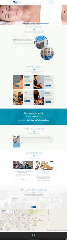 Un proyecto integral de imagen corporativa (ver en tablero de #disenografico), culminado con la #web en #WordPress para Sanus Fisioterapia. #disenoweb #webdesign #CMS