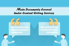 Main Documents Covered Under Content Writing Services