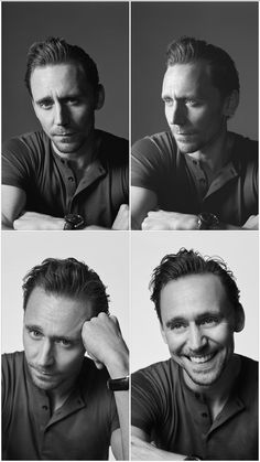 "lolawashere:  ""Tom Hiddleston by Kurt Iswarienko, B&W edition. Yes, it gets worse.  """