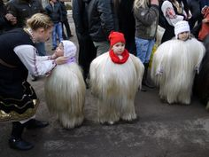 Kukeri is a traditional Bulgarian ritual to scare away evil spirits, with costumed men performing the ritual.