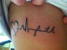 Faith tattoo.