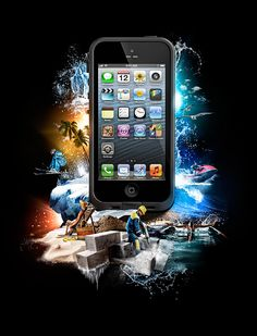 Images created for the Lifeproof Brand. Used for packaging, POS, online and advertising.