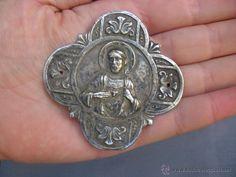 Placa devocional con el Sagrado Corazón de Jesús para puerta años 30-40 ( vendido, sold)