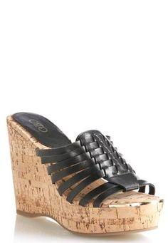 Cato Fashions Huarache Cork Wedges #CatoFashions