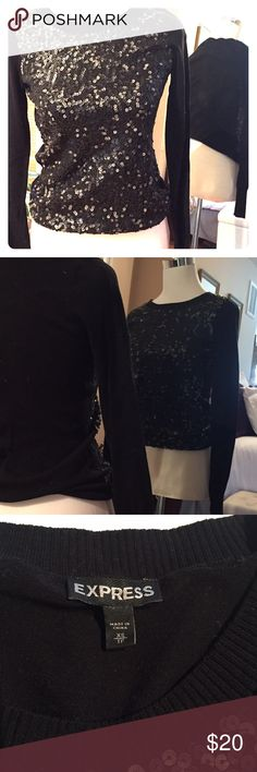 Express Sequence sweater Express sequence long sleeve sweater.  Excellent condition only worn once, great for dressy or casual look! Express Sweaters Crew & Scoop Necks