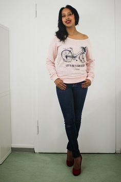 JE M'APPELLE BIKE SWEATSHIRT PINK MELANGE PRIZMAHFASHION www.prizmahfashion.com #jemappelle #outfit #stuttgart #fashionblogger #prizmahfashion #germany #german