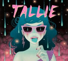 Here is a new record cover I did for a Brazillian band called Tallie. I worked very closely with the singer Natalia with her wonderful ideas/concept for the cover. Their debut record will be out …