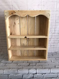Spice Rack, Wooden shelf, Multi-purpose, Kitchen, Bathroom Rack Made of 100 Reclaimed Pallet Wood by PottersWarehouse on Etsy Recycled Pallets, Wooden Pallets, Wooden Diy, Handmade Wooden, Pallet Wood, Pallet Bench, Pallet Shelves, Wooden Shelves, Wood Shelf
